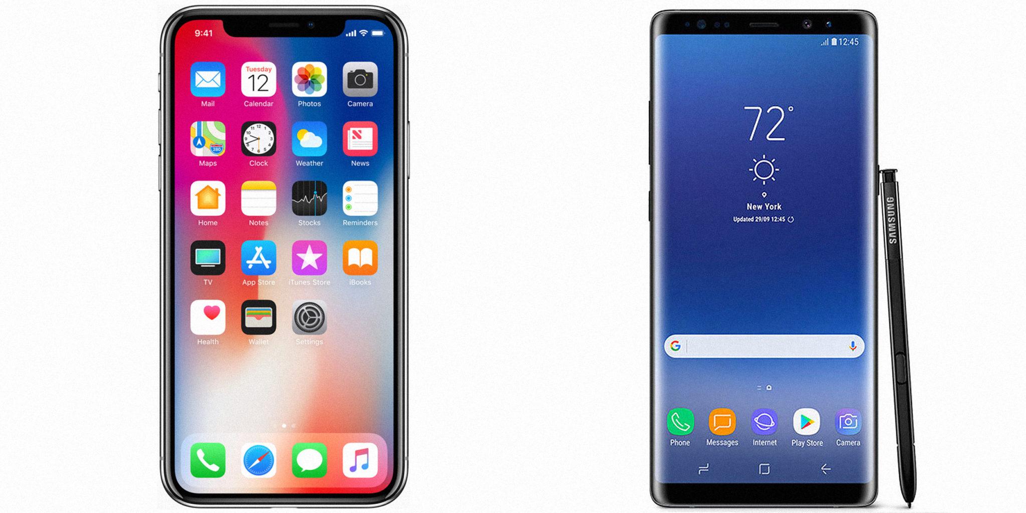 iPhone X sau Galaxy Note 8? Iată 4 caracteristici comparate!